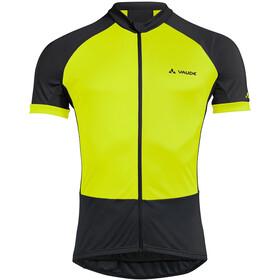 VAUDE Advanced Full-Zip Trikot Herren black/yellow